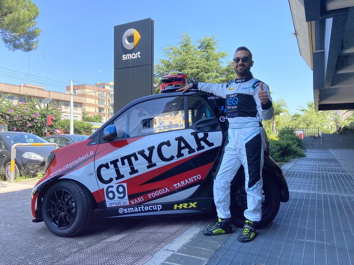 francesco ciccio savoia citycar bari smart e-cup smartecup debutto